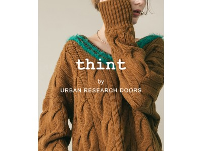アーバンリサーチドアーズよりオンラインストア限定の新たなレーベル「thint (ティント)」がデビュー!!