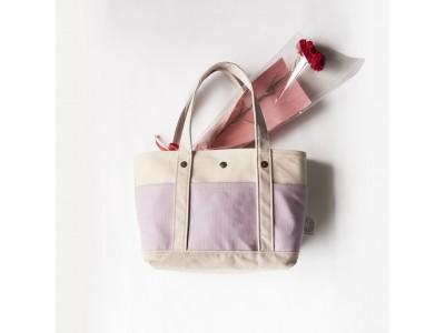 【数量限定】帆布の老舗タケヤリのトートバッグが母の日限定デザインで登場!ふわふわコットンつきの綿花もプレゼント