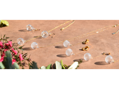 福島の硝子職人によるハンドメイドガラス工房が、アロマオイルを注入できるエシカルなガラスアクセサリー『アローム』『コロン』シリーズをリリース