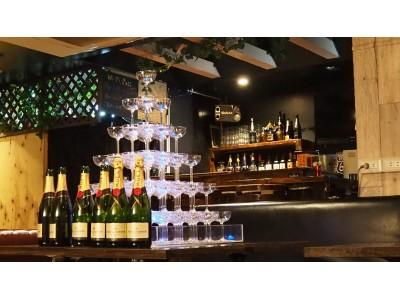 【シャンパンタワーが!500円!?】インスタ映え間違いなし!大学生サークルの打ち上げ、お誕生日に、サプライズに!普通の店ではなかなか楽しめないシャンパンタワーがたったの500円!