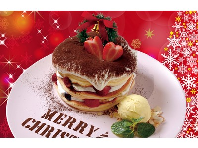 【クリスマス 期間限定 パンケーキ】12月5日(土)~25日(金)までの20日間限定!今大阪で大人気!ふわふわ揺れるミルフィーユパンケーキの「ベルヴィル」からティラミスパンケーキが新登場!