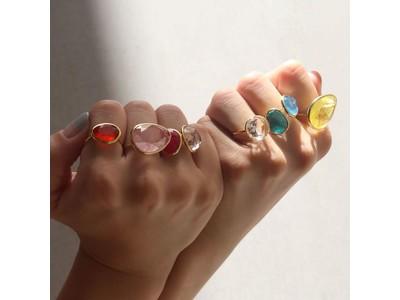 【MoodもInstaも映える!】カラフルな8色展開のカラークォーツリングで指に彩りと、ときめきを。自分だけのカラー組み合わせに巡り逢ってほしい。