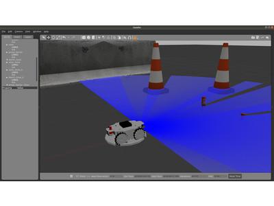 ROS対応3Dシミュレーターモデル メカナムローバー版 配布開始