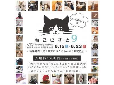日本最大級!ねこ写真パネル&グッズ展「ねこにすと9~結果発表!史上最大のねこぐらんぷりTOP22(にゃんにゃん)~」開催します!