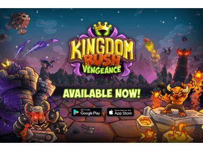 タワーディフェンスの最高峰『Kingdom Rush Vengeance(キングダムラッシュヴェンジャーズ)』グーグルプレイ、アップルアプリストア世界同時リリース