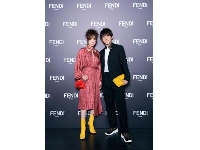 フェンディ、上海で行われたファッションショーに、仲里依紗&中尾明慶夫妻が初参加!
