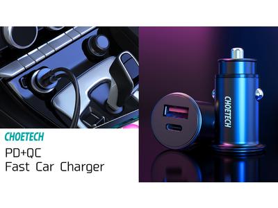 車内でも高速充電を実現!PD+QC 車用USBチャージャーの取り扱いを開始致しました。