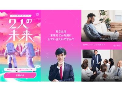 恋愛・婚活マッチングサービス『with』の心理テストに新しく『2人の未来診断』が登場!3月14日(日)24:00 まで