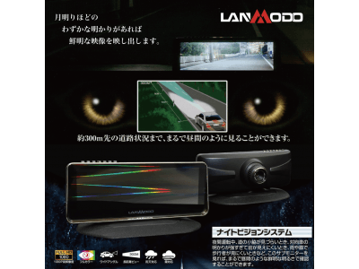 【次世代型安全確保システム】世界初フルカラーナイトビジョンモニターを販売するLanmodoの取り扱いをファインピースが開始。トラック・バス等の商用車、リース・レンタル車両等の法人展開も予定。