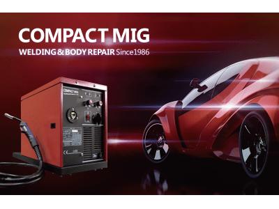 高性能半自動溶接機ブランド「COMPACT MIG(コンパクトミグ)」のロゴタイプを刷新。定番モデルとして長年車体整備の現場で活用されているC201など、更なるブランド認知の向上を図る。