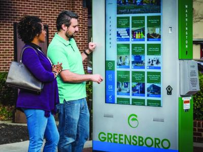米グリーンズボロ市が、ザイトロニックのタッチテクノロジーを採用し、インタラクティブなCityPost(TM)キオスクが、ダウンタウンでの訪問者の体験向上に貢献