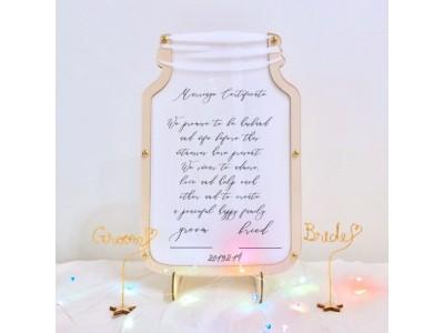 「進化した結婚証明書がこれだっ!」大注目の人前式に今おすすめな最新結婚証明書。木製や最新デザインのおしゃれすぎるアイテム