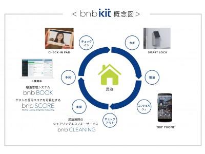 本日施行の民泊新法および改正旅館業法に対応 IoTで民泊施設をスマート化する「bnb kit」レンタル予約を開始!「bnb kit」を導入した新法民泊施設第1号を東京都北区にオープン決定