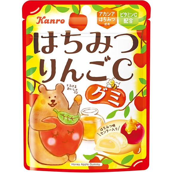 センターイン製法で味と食感の変化が楽しめる新感覚グミに新味が登場!旬のりんごとはちみつのまろやかさが... 画像