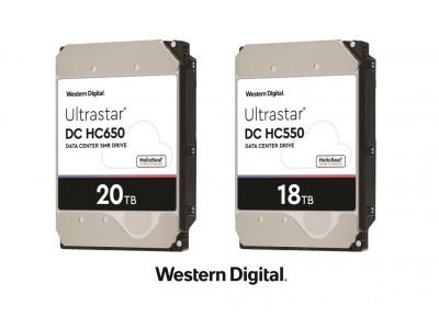 ウエスタンデジタル、世界初の20TB SMRと18TB CMR HDDのサンプル出荷を開始