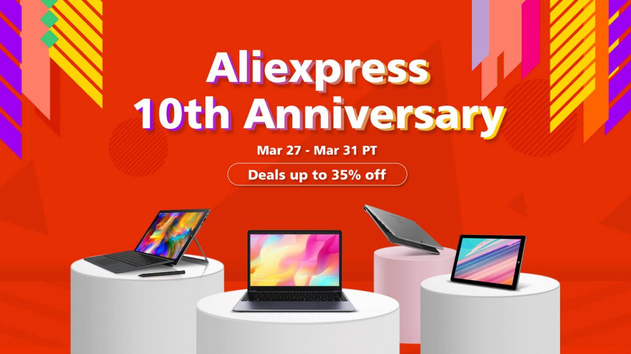 CHUWI Aliexpressセール開催!最大35%OFF!お得なキャンペーン実施中 画像