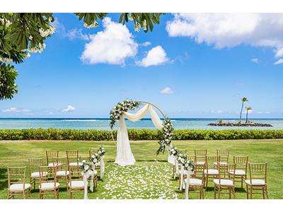 世界のVIPが認めるハワイの最高級リゾート 5つ星ホテル ザ・カハラ・ホテル&リゾートのガーデンウエディングの取り扱いをスタート