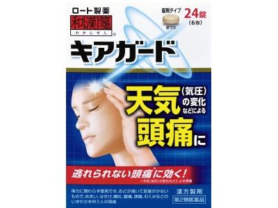 ズキズキつらい「天気頭痛※」に悩む方に!漢方ブランド「和漢箋」からキアガード発売
