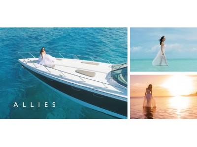 業界初、水中で着られるウェット素材を用いたウエディングドレスALLIES(アリーズ)、ハワイでクルージングフォトプランを開始。
