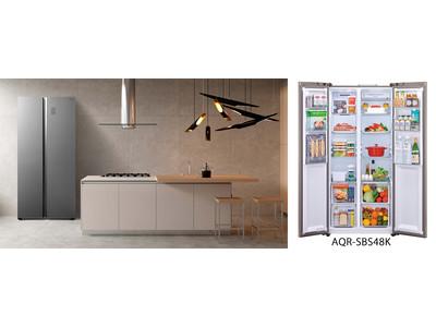 庫内を縦に2分割したSide by SideスタイルAQUA 冷凍冷蔵庫「AQR-SBS48K」を発売