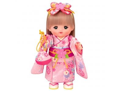 ピンクの振袖がキュートなおかっぱヘアのメルちゃんが新登場!「おかっぱヘアメルちゃん ふりそでセット」