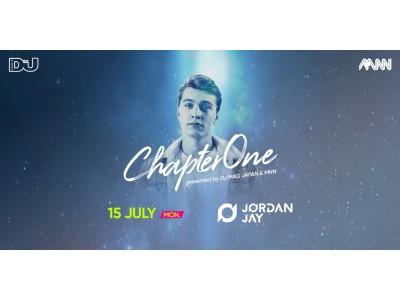 未成年も入場できるダンスミュージックイベント「Chapter One」、フューチャーハウス界の若手注目株・Jordan Jayが7月15日初来日!