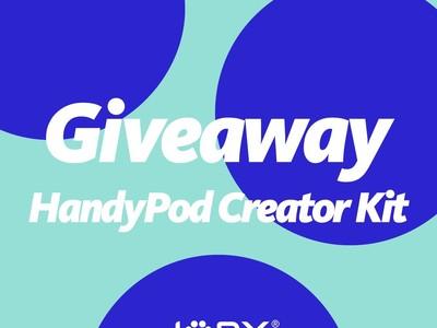 プレゼントキャンペーン『Giveaway HandyPod Creator Kit』を開催中