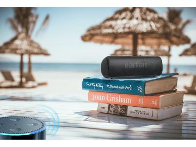 EarFun Go Bluetooth 5.0 防水スピーカーが登場!小型ながら高音質 12Wの迫力あるサウンド 24時間連続再生&ステレオペアリングが可能
