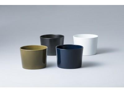 波佐見産コンパクト手洗器「POCKET」の新色オリーブとネイビーを発売。白・黒あわせて4色のラインナップで水回りをカラフルに。