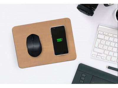 【置くだけでスマホ充電!】ワイヤレス充電マウスパッド