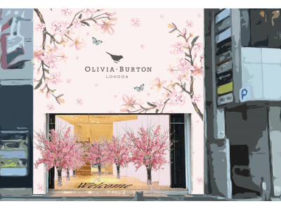 ロンドン発「オリビア・バートン」の世界が東京・渋谷の街に5日間の限定出現! 桜をあしらった最新作「PRETTY BLOSSOM」も全国発売をスタート!