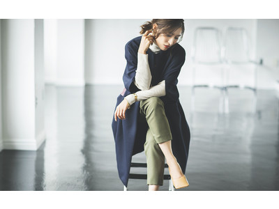 先行予約で話題!人気ファッションインフルエンサーAyaさんとコラボレーションしたバイカラーコクーンコートがいよいよ通常販売スタート!