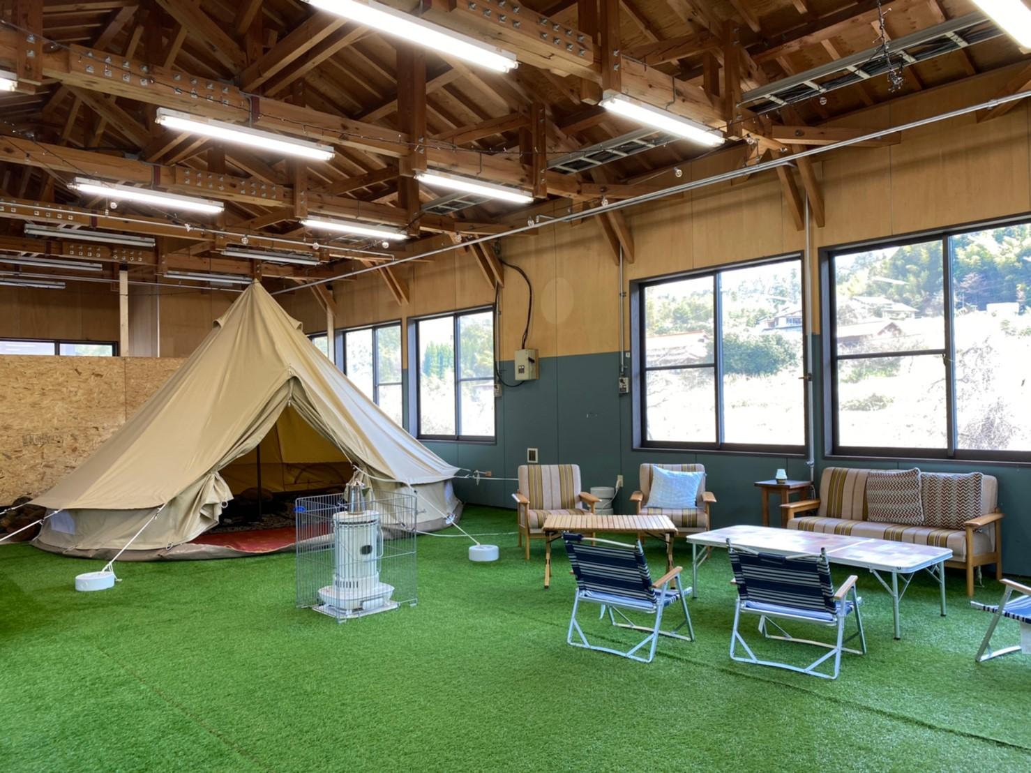1日1組限定の屋内型プライベートキャンプ場「EGキャンプ場」2020年4月11日に本オープン決定