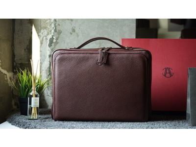 最高級フルグレインレザーを使用した存在感あるレザーバッグ「143 THREE IN ONE BAG」数量限定 先行予約スタート