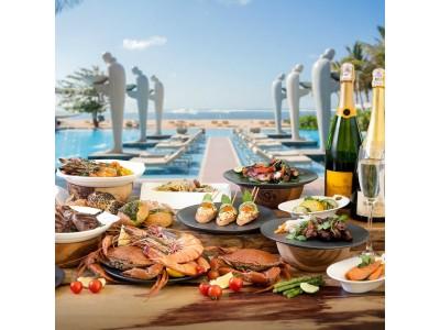 ザ・ムリア、ムリアリゾート&ヴィラス-ヌサドゥア、バリ「ソレイユ」でグルメブランチとビーチフロントのスパークリングワインを