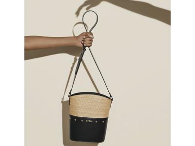 フルラ モードなレザー×ラフィア素材のバッグを発売