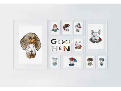 あなたの愛犬がアート作品に! オンラインショップオープンを記念してBARNEYS NEW YORKとコラボ企画開催。「GEKIHEN」