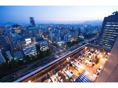 広島の夜景を見渡すオープンエアの屋上で愉しむビールとBBQ!5月1日(土)期間限定ルーフトップ・ビアガーデンがオープン ANAクラウンプラザホテル広島