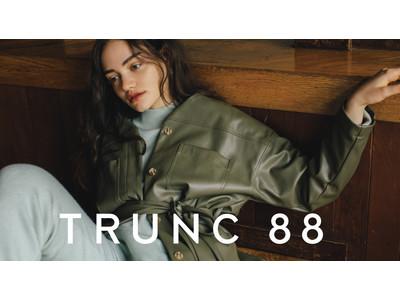 TRUNC 88、ルミネエスト新宿・阪急うめだ本店でPOP UPストアをオープン