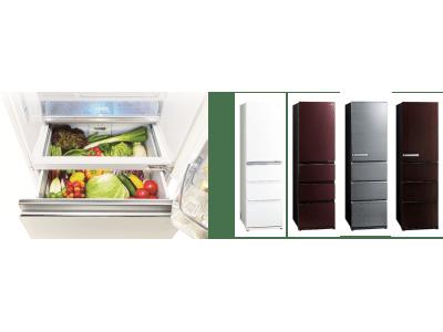 【業界初※1 冷蔵室から見渡せる野菜室】AQUA 冷凍冷蔵庫『Delie(デリエ)シリーズ』発売