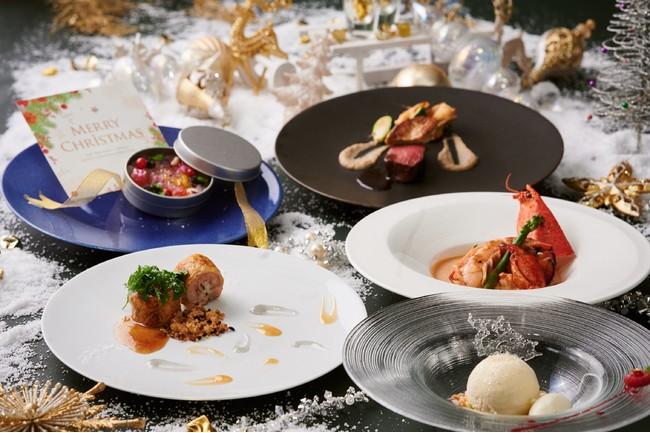 世界三大珍味やオマール海老等の豪華食材を贅沢に使用!リースやスノーボールに見立てた、アートのように美しいクリスマス限定デ...