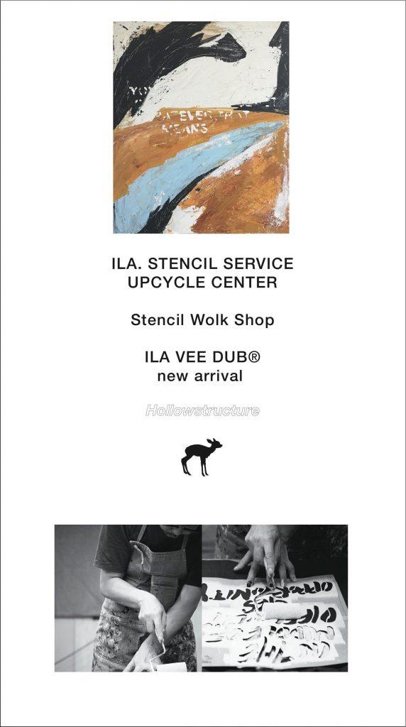 【 3日間限り】守矢努氏によるステンシルサービスイベントを開催!さらに人気を博したグラフィックTシャツ「ILA VEE DUB 」の新作が登場