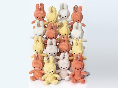 日本限定カラーと春らしい新色が加わった充実のラインアップ 『BON TON TOYS Miffy Corduroy Collection』より Keychain の新作3点が登場!