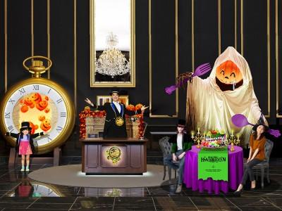いたずら好きなカボチャおばけと一緒にハロウィーン・パーティを楽しもう!~高さ約3m!ビッグなカボチャおばけとディナーを召し上がれ?!