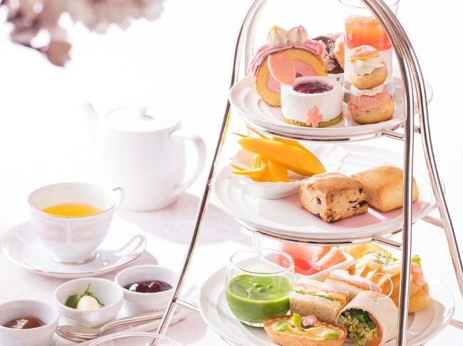 【横浜ベイホテル東急】満開の桜スイーツで華やぐ優雅なひととき 「桜 アフタヌーンティー」を提供