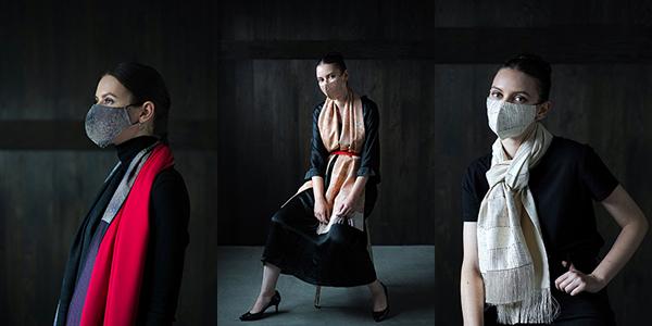 """UZ Fabricの最新コレクションは、withコロナというドラスティックな時代の変化をいち早く反映。新たなライフスタイル・アイテム、""""マスク""""を含めた新しい装い、トータル・コーディネートを提案する。"""