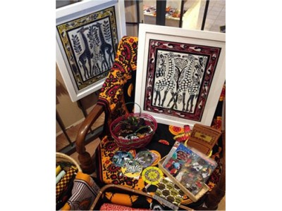 六甲ガーデンテラス ショップホルティ アフリカン現代アート 「ティンガティンガ・アート原画展」8月1日(水)から8月31日(金)まで開催