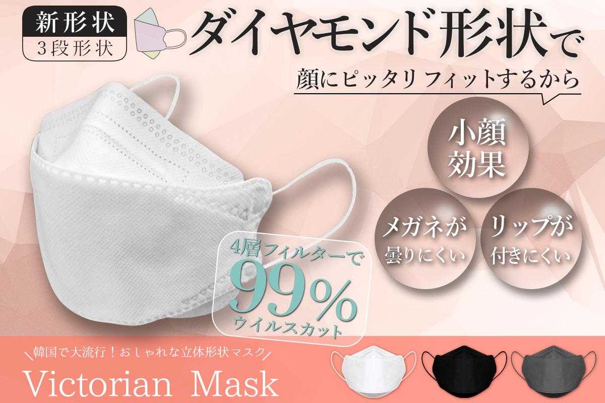【専門家も推奨!進化した今話題の不織布マスク!】人間工学に基づいて作られた新形状マスク『Victorian Mask』を大好評につき緊急追加販売開始!1年分のマスクが当たるキャンペーンも実施中!