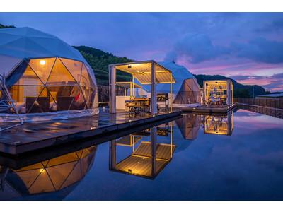 【Resort Glamping.com新掲載】~2021年オープンのアウトドアリゾート。大阪府初のドーム型テント宿泊も可能!~「FOREST GLAMPING-牛滝温泉 四季まつり-」