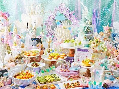 """童話""""人魚姫""""の世界観の中で楽しむ マーメイド スイーツ ビュッフェ『マーメイド ラグーン~メロンに恋した人魚姫~』を開催"""